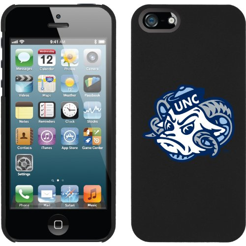 Best Price North Carolina Ram Head design on a Black iPhone 5s / 5 Thinshield Snap-On Case by Coveroo