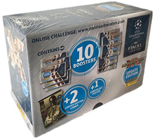 Panini 2014 / 2015 Champions League Adrenalyn XL UPDATE EDITION 2015 GIFTBOX 10 packs + 3 LE Cards (2014 Champions League compare prices)