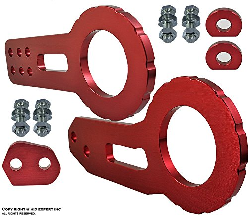 JDM TOW HOOK REAR Racing CNC Aluminum Style RED with Front & Back Kit (G35 Coupe Tow Hook compare prices)
