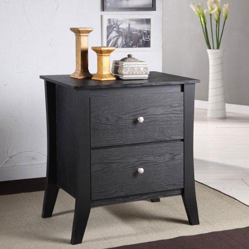 Hazleton Classic Style Black Finish Nightstand front-1064886