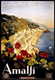 TA23 Vintage 1920's Italian Italy Amalfi Salerno Travel Poster Re-Print - A4 (297 x 210mm) 11.7