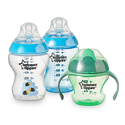 Fantastic Deal! Tommee Tippee Closer To Nature Tip It Up Bottle To Cup Set, Blue, 3 Count