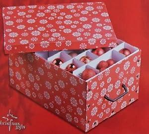 mq aufbewahrungsbox organizer kiste box f r weihnachtskugeln aufbewahrung kugeln rot. Black Bedroom Furniture Sets. Home Design Ideas