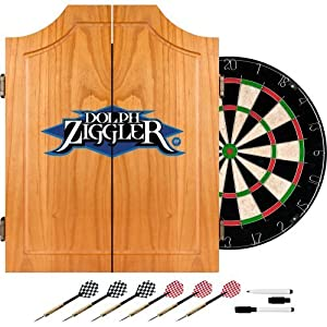 WWE Dolph Ziggler Wood Dart Cabinet Set by Trademark Global