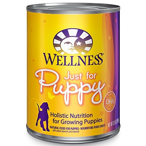 Wellness Complete Health Just For Puppy Chicken & Salmon Natural Wet Canned Dog Food, 12.5-Ounce Can (Pack of 12)