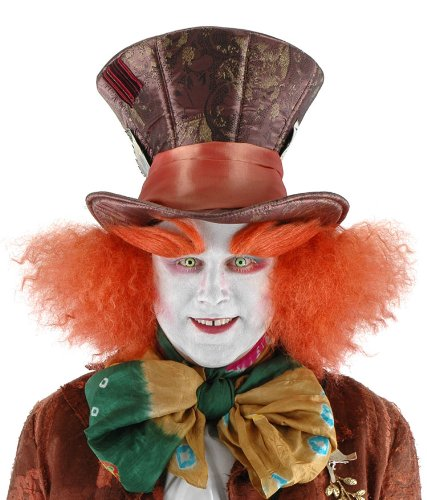 Mad Hatter Hat with Hair - Adult Std.