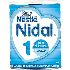 Nestlé Nidal 1 Lait Infantile 1er âge de la naissance à 6 mois 800 g - Lot de 3