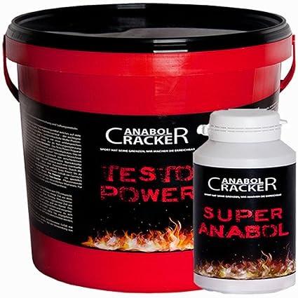 Testo Power, Whey Protein Creatin, 2600g Dose, Frucht Eiweißshake + 100 Kapseln Super Anabol Pulver