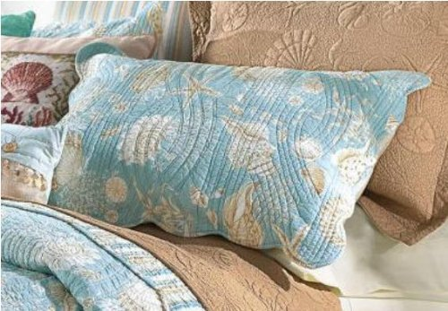 Natural Shells Sham, Blue Multi, Standard