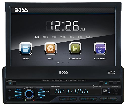 BOSS AUDIO BV9967B Single-DIN 7 inch Motorized Touchscreen DVD Player Receiver, Bluetooth, Detachable Front Panel, Wireless Remote (Dvd Player For 2009 Dodge Journey compare prices)