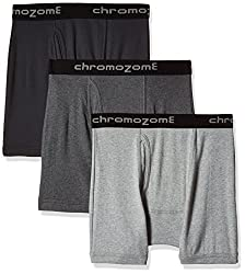 Chromozome Men's Cotton Trunk (Pack of 3) (8902733343879_IT 11_X-Large_Grey, Ash and Coal)