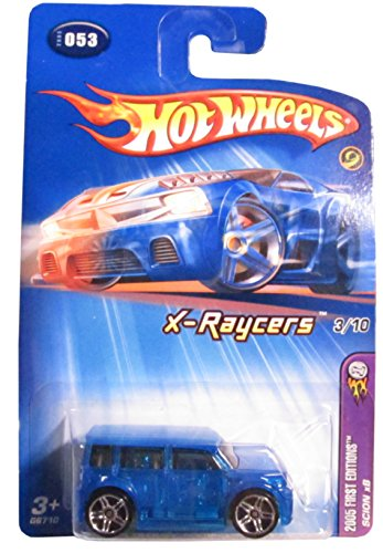 2005 Hot Wheels Kmart Exclusive First Editions X-Raycers Scion xB Transparent Blue #2005-053 - 1