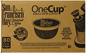 San Francisco Bay Coffee French Roast, 80 OneCup Single Serve Cups