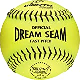 Worth NSA Fast Pitch Pro Leather Dream Seam Soft Ball, 12