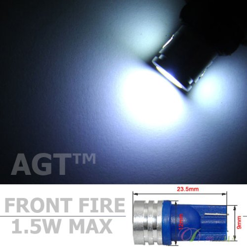 Agt 194 168 2825 1.5 Watt Directional White High Power Led Car Lights Bulb (Pack Of 4)