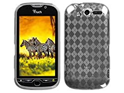 Clear Argyle TPU Ice Candy Rubber Gel Skin Case Cover for HTC myTouch 4G