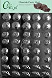 Cybrtrayd N033 Tiny Shell Assortment Chocolate Candy Mold with Exclusive Cybrtrayd Copyrighted Chocolate Molding Instructions