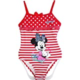 Disney Minnie Mouse Girls One Piece Swimsuit Red - Size 3/4/5/6/7/8 years