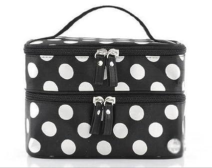 Unique Travel Bags Unique Cosmetic Bag White Dots