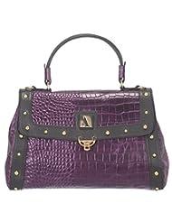 Adamis Beautifully Designed HandBag (Purple_B658)