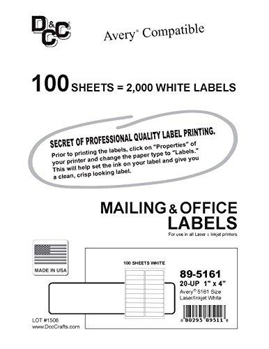 2 000 dcc u00ae generic white self adhesive address labels 1 x