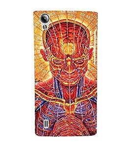 EPICCASE Abstract Face Art Mobile Back Case Cover For Vivo Y15 (Designer Case)