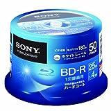 SONY ビデオ用BD-R 追記型 片面1層25GB 4倍速 ホワイトプリンタブル 50枚スピンドル 50BNR1VGPP4