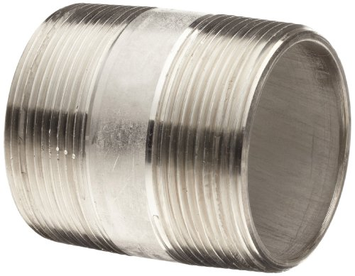 Stainless steel l pipe fitting close nipple