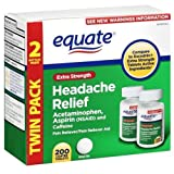 Equate - Headache Relief, Extra Strength, Acetaminophen, Aspirin and Caffeine, Coated Tablets, 200-Count