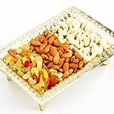 Ghasitaram Golden Dryfruit Tray (Golden,Rectangle)