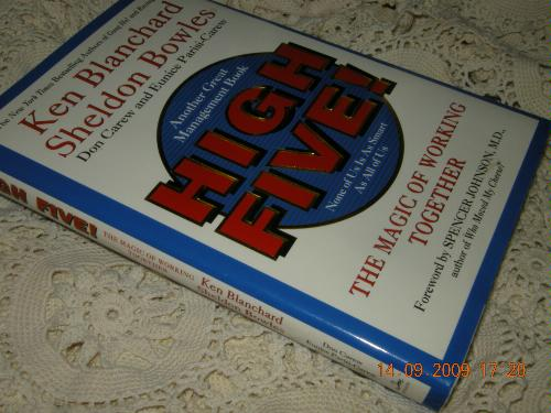 high five book analysis blanchard and bowles With a passion to turn every leader into a servant leader, ken blanchard shares his  books by ken blanchard • the on-time, on-target manager (with steve gottry), 2004  • high five (with sheldon bowles, don carew, and eunice parisi-carew), 2001.
