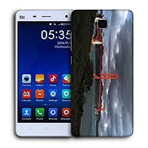 Snoogg Red Big Sealing Printed Protective Phone Back Case Cover For Xiaomi Mi 4
