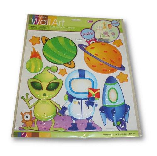 Craft Decor Puffy Wall Art (Space Aliens)