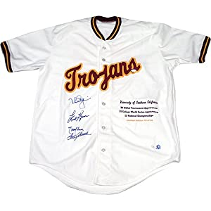 Mark McGwire Tom Seaver Randy Johnson Fred Lynn Signed USC Trojans Stat Jersey by Steiner+Sports