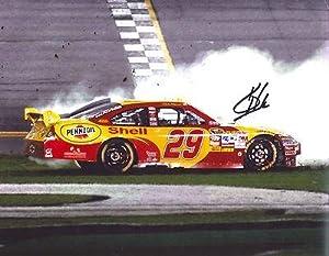 Autographed Kevin Harvick Photo - BURNOUT 11X14 COA - Autographed NASCAR Photos by Sports Memorabilia