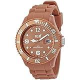 ICE-Watch - Montre Mixte - Quartz Analogique - Ice-Chocolate - Caramel - Big - Cadran Marron - Bracelet Silicone Marron - CT.CA.B.S.10