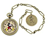 Ingersoll Unisex IND 25835 Ingersoll Mickey Mouse 30's Collection Gold Pocket Watch
