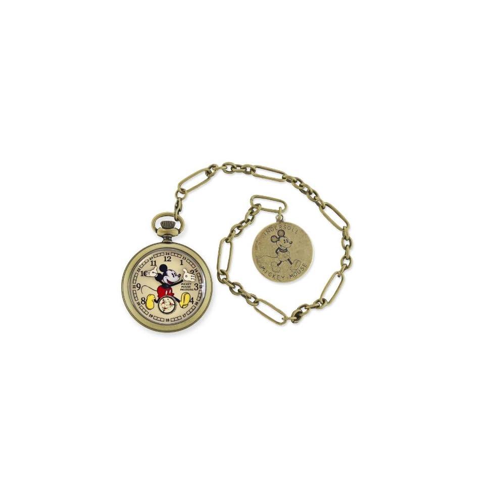 Ingersoll Disney Mickey Mouse Gold Herren Taschenuhr Disney by