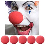 MEGA VALUE MULTIPACK 6 x Red Nose Day Soft Sponge Clown Noses Fancy Dress Comic Relief Circus Clown Party Accessory