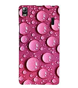 Water Droplets over Pink Pattern 3D Hard Polycarbonate Designer Back Case Cover for Lenovo A7000 :: Lenovo A7000 Plus :: Lenovo K3 Note