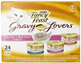 Fancy Feast Gravy Lovers Cat Food Variety Pack, 3-Ounce Cans (Pack of 24)