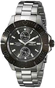 Invicta 14058 Men's Pro Diver Gunmetal Dial Stainless Steel Bracelet Dive Watch