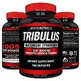 Tribulus Terrestris Extract Powder | Testosterone Booster with Estrogen Blocker | 45% Steroidal Saponins 1500mg | Arazo Nutrition USA