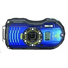 Ricoh WG-4 GPS 16 MP Digital Camera with 4x Optical Image Stabilized Zoom(Blue)