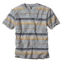 (エディー・バウアー) Eddie Bauer 半袖ブークレストライプクルーネックポケットTシャツ