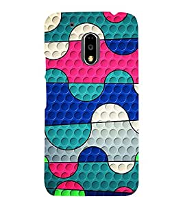 Colourful Pattern 3D Hard Polycarbonate Designer Back Case Cover for Motorola Moto G4