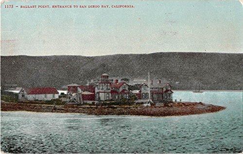 San Diego Bay California Entrance At Ballast Point Antique Postcard V10584