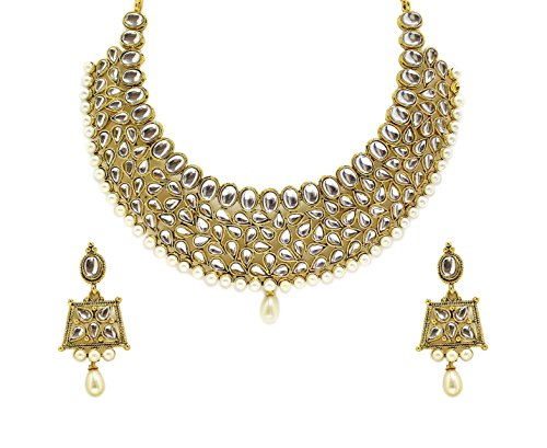 Zaveri Pearls Kundan Necklace Set -ZPFK4296