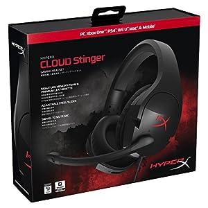 キングストン Kingston ゲーミングヘッドセット HyperX Cloud Stinger HX-HSCS-BK/AS ブラック 軽量 2年保証付き