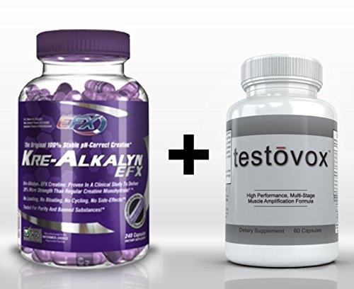 Kre-Alkalyn (240 Capsules) & Testovox (60